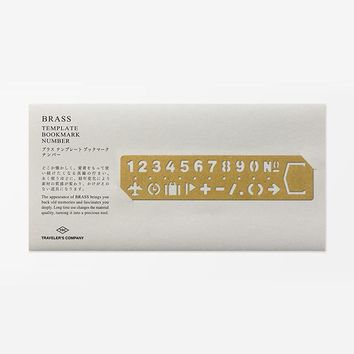 Midori Brass Template Bookmark Numbers