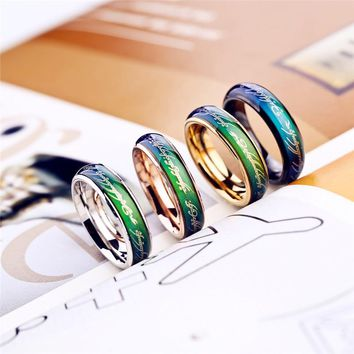 Temperature change color Ring Men Mood Ring rings for women