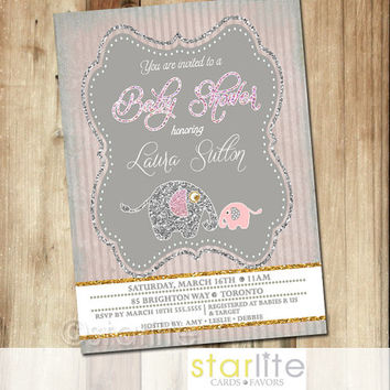shop vintage pink baby shower invitations on wanelo,