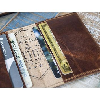 4-Slot Front Pocket Card Sleeve Wallet - The Dip (Horween Dublin Leather)