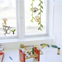 Monkeys - Window Peel N Stick - College Room Decorations Dorm Necessities Checklists