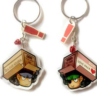 Clear acrylic double sided Metal gear Solid snake Chibi Charm keychain Deluxe