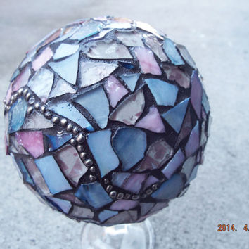 Custom Mosaic Ball, Done By Order Only Gazing Ball, Crystal Ball, Home Decor, Romantic Decor