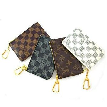 Louis Vuitton Clutch Bag Wristlet Women Men Key Pouch