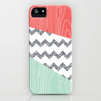 Wood Grain & Glitter iPhone Case by PrintableWisdom | Society6