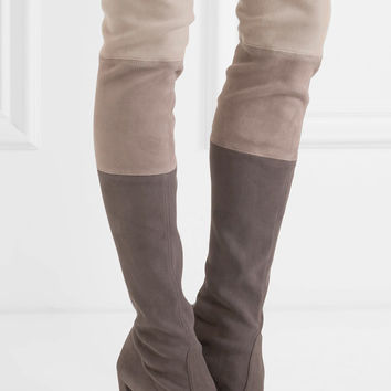 Stuart Weitzman - Troika stretch-suede over-the-knee boots