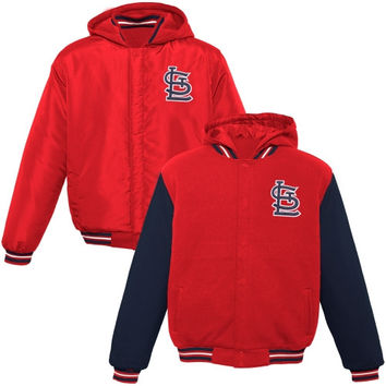 St. Louis Cardinals Youth Hooded Reversible Fleece Jacket - Red - http://www.shareasale.com/m-pr.cfm?merchantID=7124&userID=1042934&productID=555877525 / St. Louis Cardinals