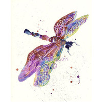 Art SALE, DRAGONFLY Art, Wannabe Fairy Gift, FREE shipping, dragonfly painting