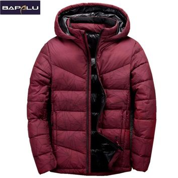 2017 New Winter Thick Down Jackets Men Brand Clothing Mens Casual 80% White Duck Down Spliced Coats Fashion Men Outerwear
