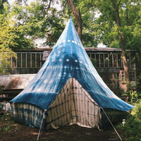 Hand dyed Indigo Tent || 10ft
