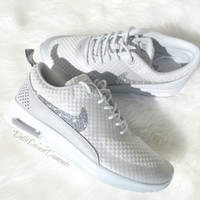 LIMITED Swarovski Light Gray Nike Air Max Thea