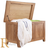 Buy Rutland Natural Oak Blanket Box at Home Bargains