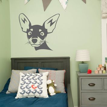 ik299 Wall Decal Sticker Decor chihuahua dog hua small kids bedroom