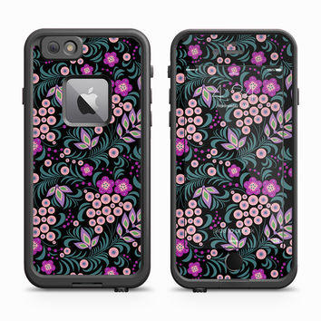 Pink Sunbursts among Floral Whisps Skin for the Apple iPhone LifeProof Fre Case