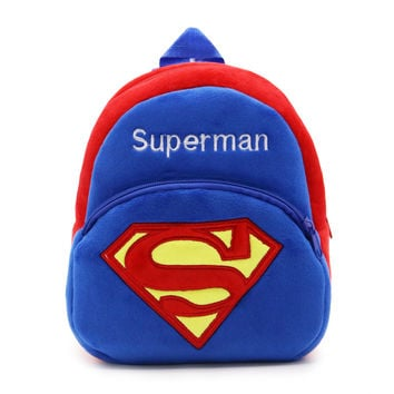 C1 Classic Superman kindergarten Christmas gift kid backpacks Plush baby children school bags mochila design boy and girls bags