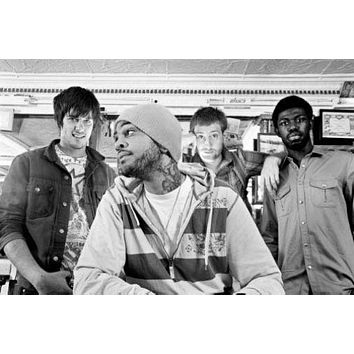 Gym Class Heroes poster Metal Sign Wall Art 8in x 12in Black and White