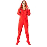 Red Footed Footed Pajamas
