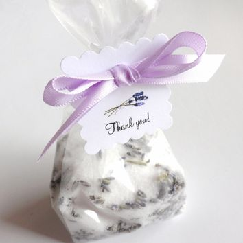 Lavender Bath Salt Bridal Shower Favors Set of 10