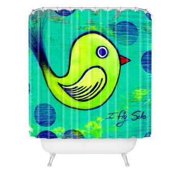 Sophia Buddenhagen I Fly Solo Shower Curtain