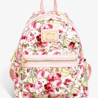 Loungefly Disney Beauty And The Beast Floral Mini Backpack