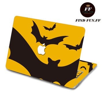 Back cover of decal Macbook Air Sticker Macbook Air Decal Macbook Pro Decal 一群蝙蝠-059