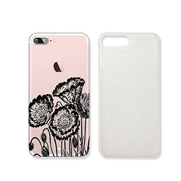 Vintage Poppy Flower Transparent Plastic Phone Case for iphone 7 _ SUPERTRAMPshop (iphone 7)