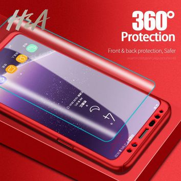 H&A 360 Full Cover Shockproof Phone Case For Samsung Galaxy S9 S8 Plus Protective Cover For Samsung S6 S7 Edge Note 9 8 Case