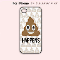 Super Funny Phone Case Poop Emoji Quote Cute Cover iPhone 4 4s 5 5s 5c 6 Plus +-5 Colors Available