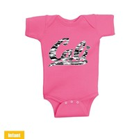 Cali White Camo - Infant Lap Shoulder Bodysuit