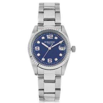 Forzieri Designer Women's Watches Sabina Silver Tone Stainless Steel Women's Watch