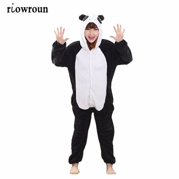 Adult Costumes Pajamas Set Animal Onesuit Unicorn Stitch Koala Dinosaurs Cow Totoro Pikachu Frog Cosplay Cartoon Sleepwear Women
