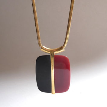 1970s Modernist Lucite Necklace by Trifari Lanvin Era