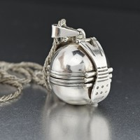 Multi Photo Locket Vintage Silver Ball Locket Pendant