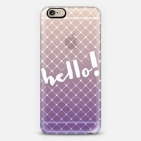Fishnet Hello Ombre Purple iPhone 6 case by Emilee Parry | Casetify