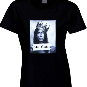 Iggy Pop No Fun Expression  Womens T Shirt