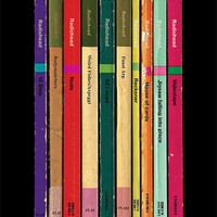 Radiohead 'In Rainbows' Album As Books Poster Print