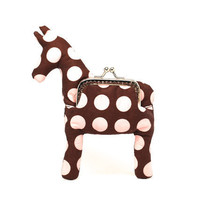 Little brown pony plush toy coin purse