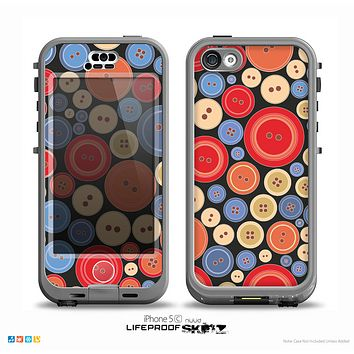 The Colored Vector Buttons Skin for the iPhone 5c nüüd LifeProof Case