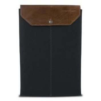 Graf & Lantz Felt Sleeve with Leather Flap for 11 MacBook Air - Black