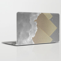Silence is the Golden Mountain (Stay Gold) Laptop & iPad Skin by Soaring Anchor Designs