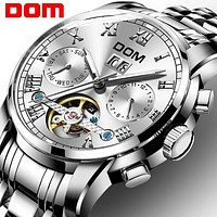 Mechanical Watches Sport DOM Watch Men  Waterproof Clock Mens