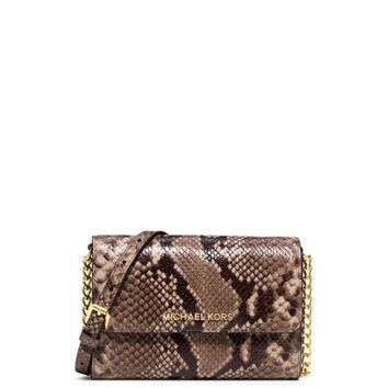 Jet Set Travel Large Embossed-Leather Phone Crossbody | Michael Kors