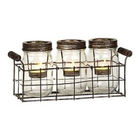 Mason Jar Tealight Candle Runner