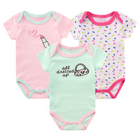 3PCS / Newly Designed Cotton Overalls for NB Girls