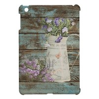 elegant country tin vase wildflowers floral cover for iPad mini