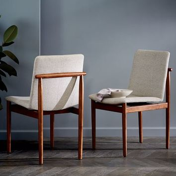 Framework Upholstered Dining Chair - Stone (Twill)