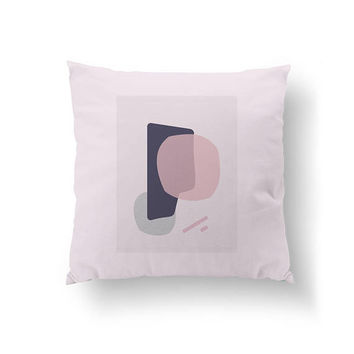 Pink Purple Pillow, Cushion Cover, Simple Art, Home Decor, Mid Century, Decorative Pillow, Scandinavian Design, Throw Pillow, Abstract Shape
