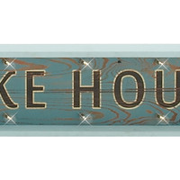 "Arrow Wood Led Lake House Sign 28""W, 12""H"