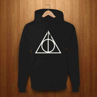 Harry Potter Deathly Hallows printed Black Hooded Sweat all sizes