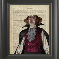 A Dracula dog  - Printed on intelligent page  -  250Gram paper.